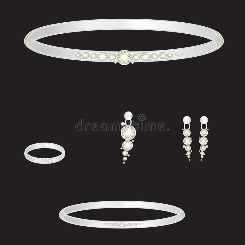 Jogo da jóia ilustração royalty free