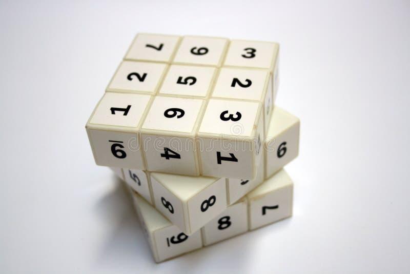 Jogo da lógica de Sudoku fotografia de stock
