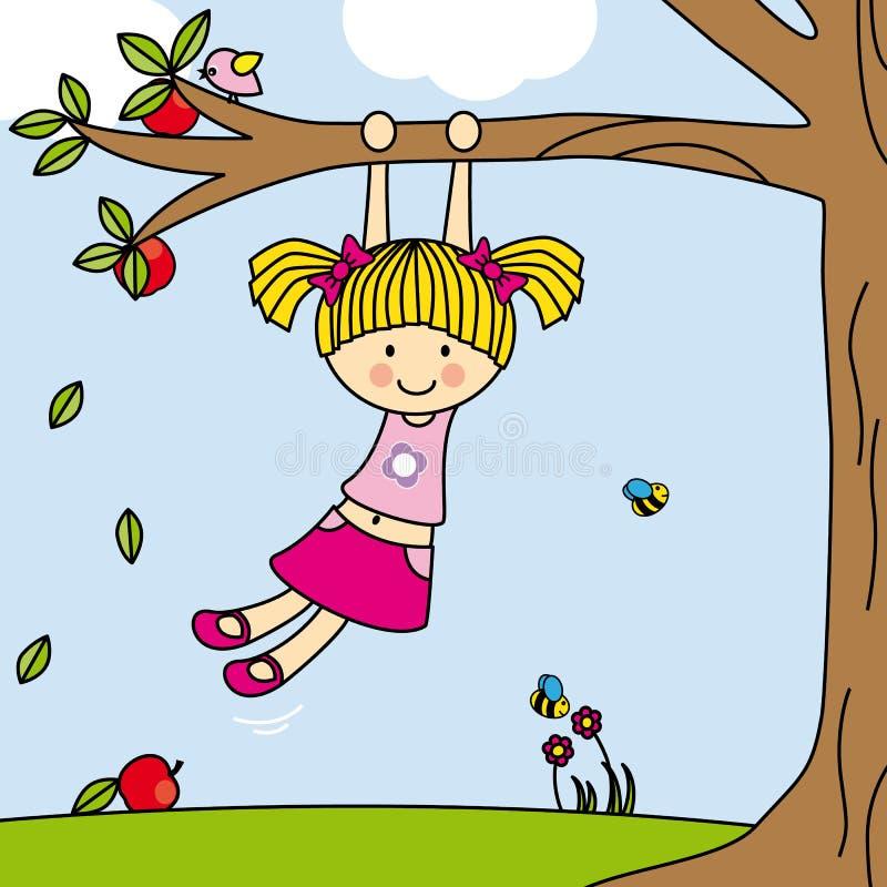 Jogo da menina ilustração do vetor