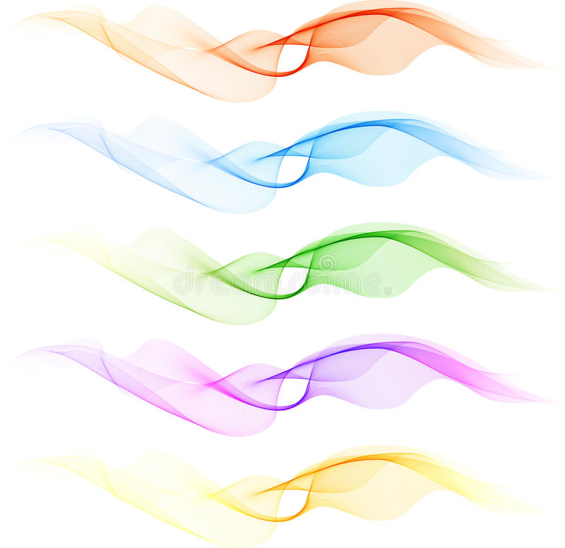 Jogo da onda da mistura da cor ilustração stock