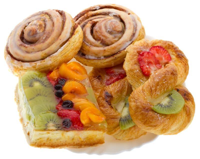 Jogo da pastelaria doce imagens de stock royalty free