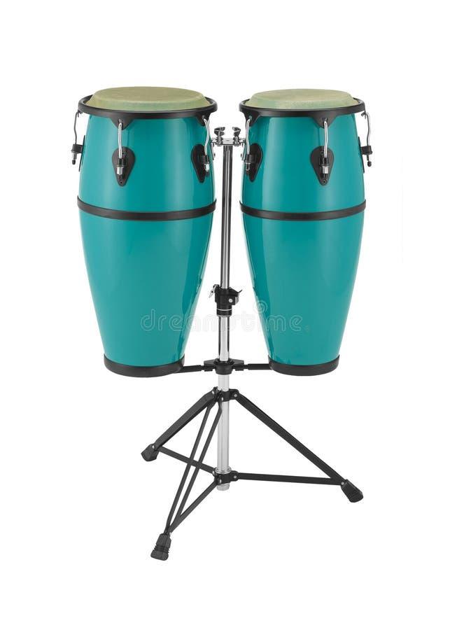 Jogo da percussão dos Congas imagens de stock