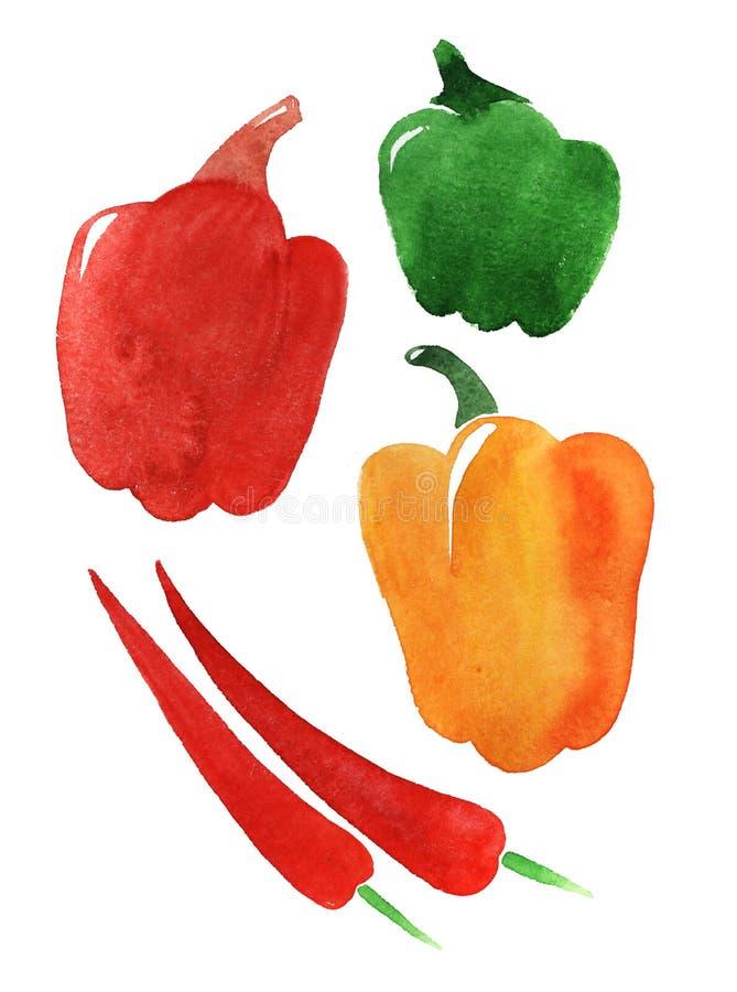 Jogo da pimenta. ilustração royalty free