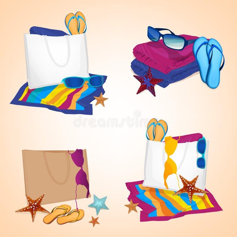 Jogo da praia ilustração royalty free