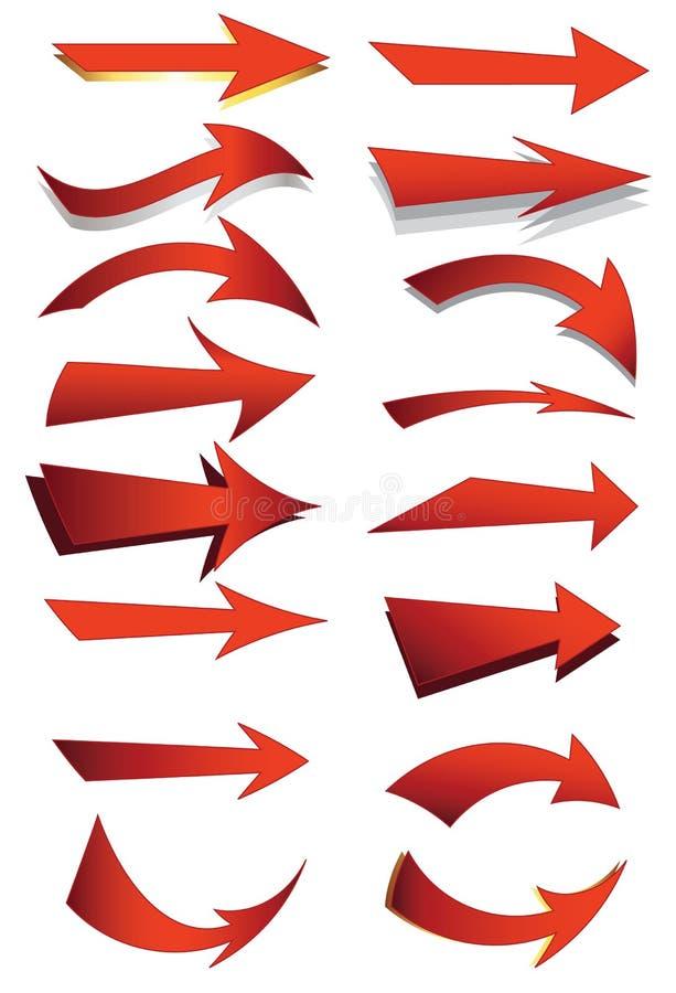 Jogo da seta ilustração stock