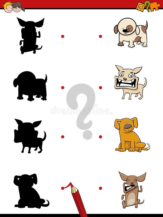 Jogo da sombra com cães ilustração do vetor