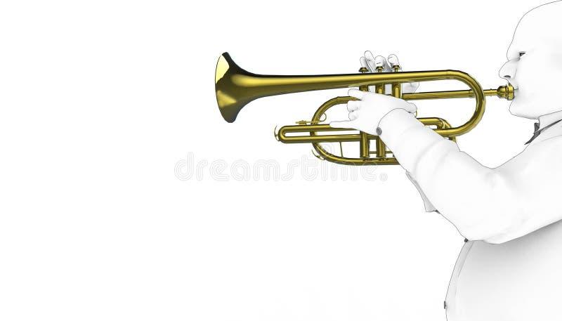 Jogo da trombeta que tira instrumentos musicais 01/ilustração/artista Concept Art ilustração royalty free