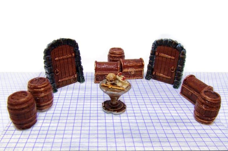Jogo das aventuras de Dungeon foto de stock