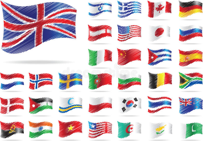 Jogo das bandeiras. ilustração stock
