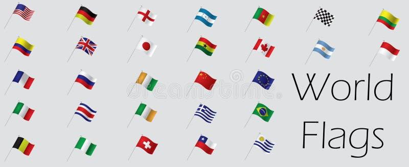 Jogo das bandeiras ilustração royalty free