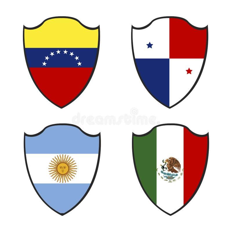 Jogo das bandeiras ilustração do vetor