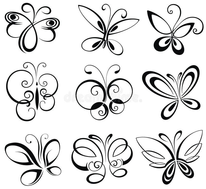 Jogo das borboletas ilustração royalty free