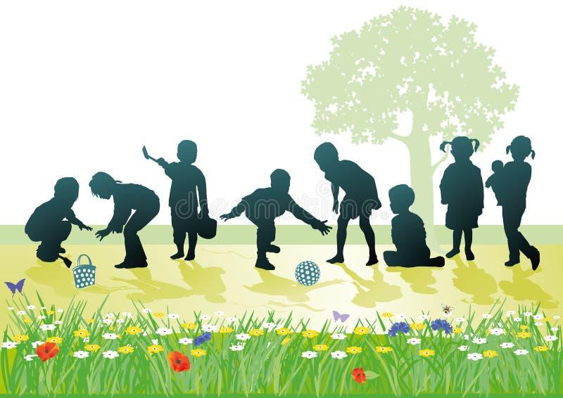 Jogo das crianças ilustração do vetor