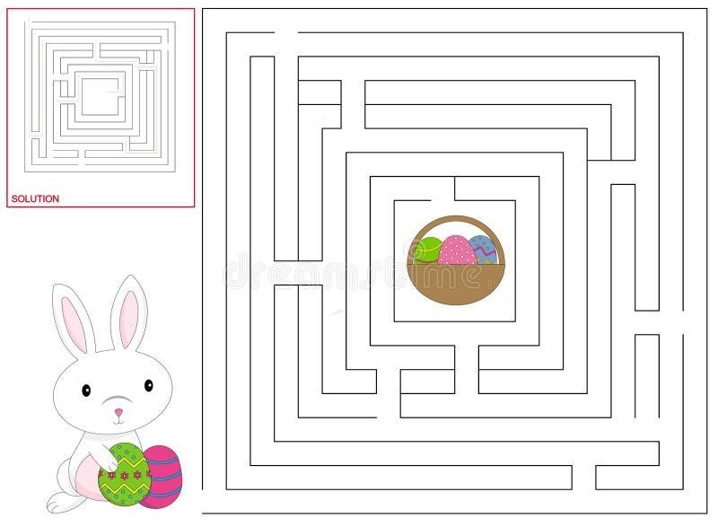 Jogo das crianças de Easter ilustração stock