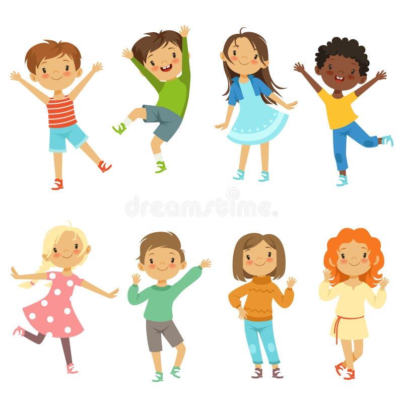 Jogo das crianças Isolado engraçado dos caráteres do vetor no branco ilustração royalty free