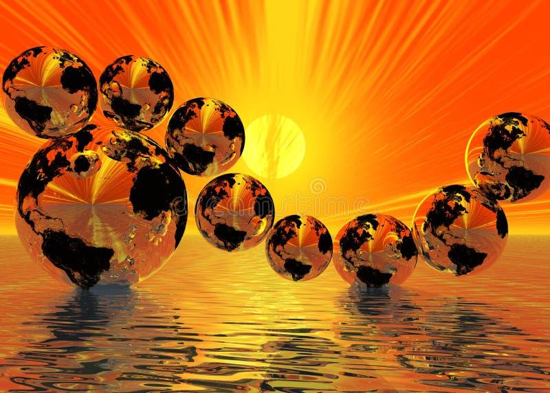 Jogo das esferas ilustração stock