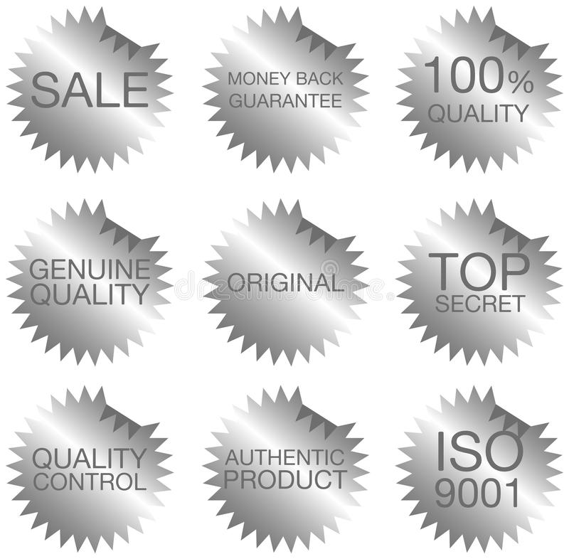 Jogo das etiquetas ilustração stock