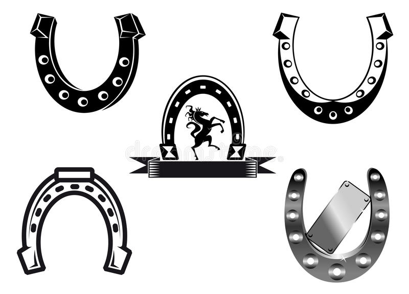 Jogo das ferraduras ilustração royalty free