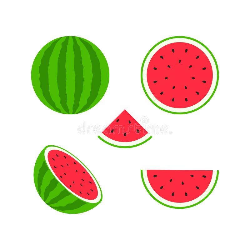Jogo das frutas e das bagas Fruto do ver?o Maçã do fruto, pera, morango, laranja, pêssego, ameixa, banana, melancia, quivi do aba ilustração royalty free