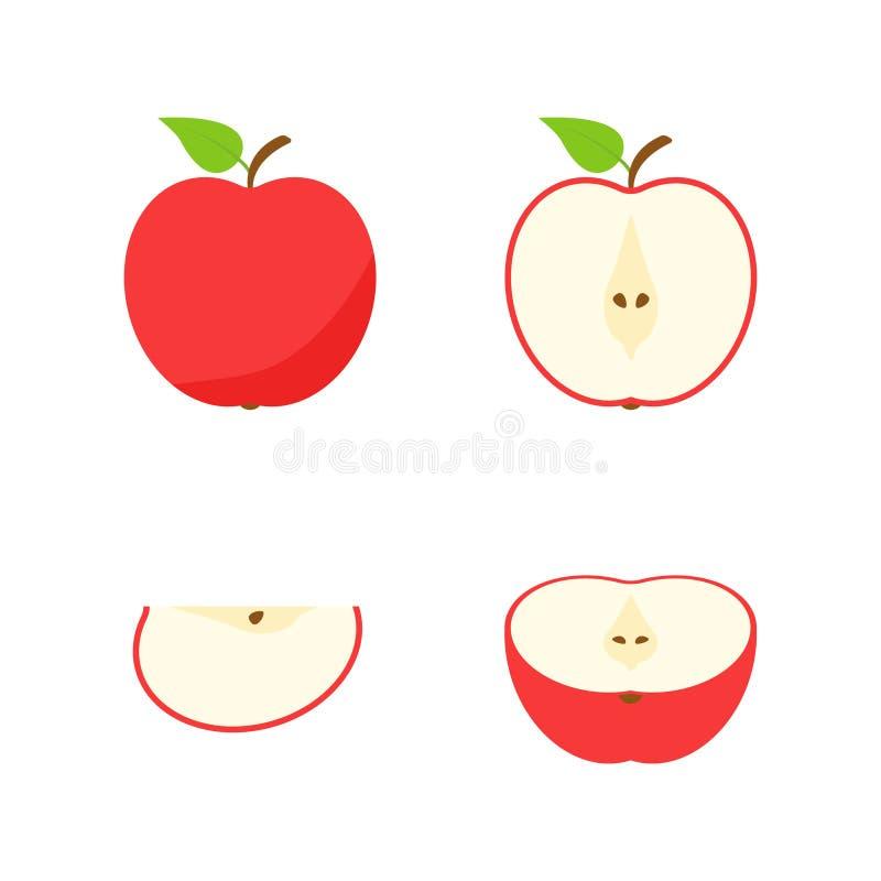 Jogo das frutas e das bagas Fruto do ver?o Maçã do fruto, pera, morango, laranja, pêssego, ameixa, banana, melancia, quivi do aba ilustração stock