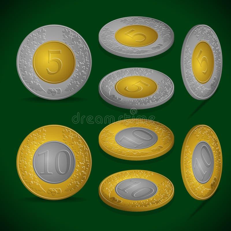 Jogo das moedas ilustração royalty free