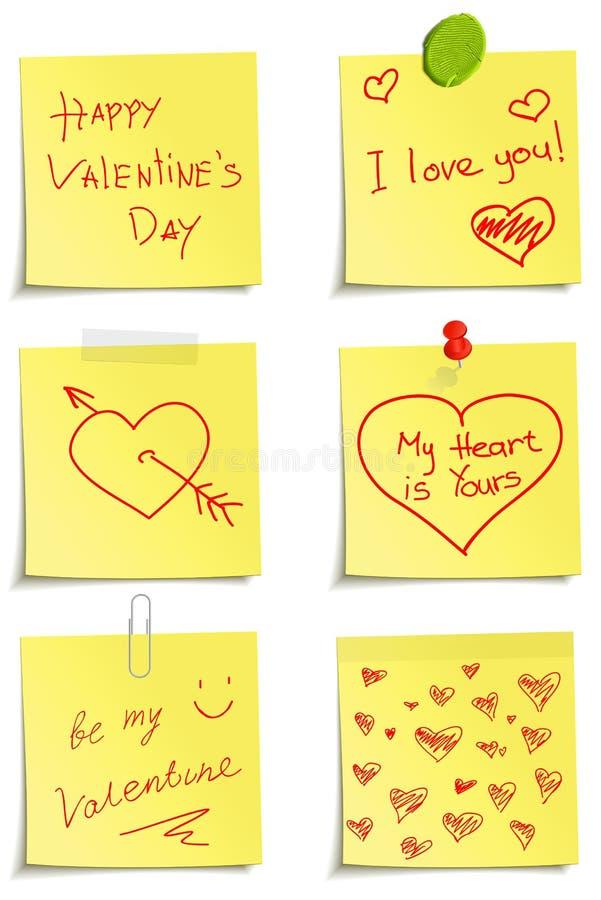 Jogo das notas ao dia do Valentim ilustração do vetor