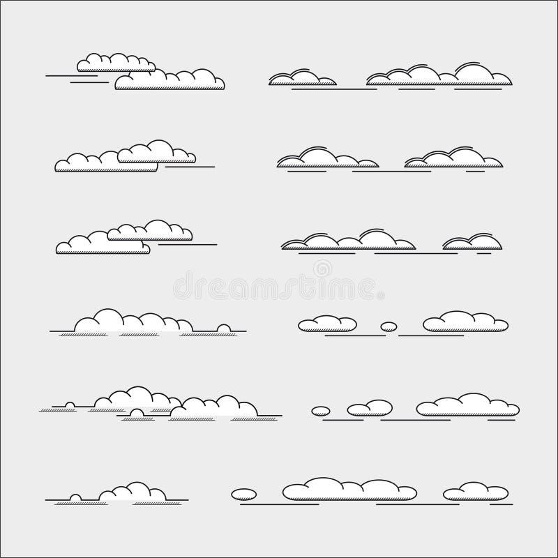 Jogo das nuvens ilustração royalty free