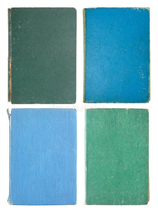 Jogo das páginas do livro velho isoladas fotografia de stock