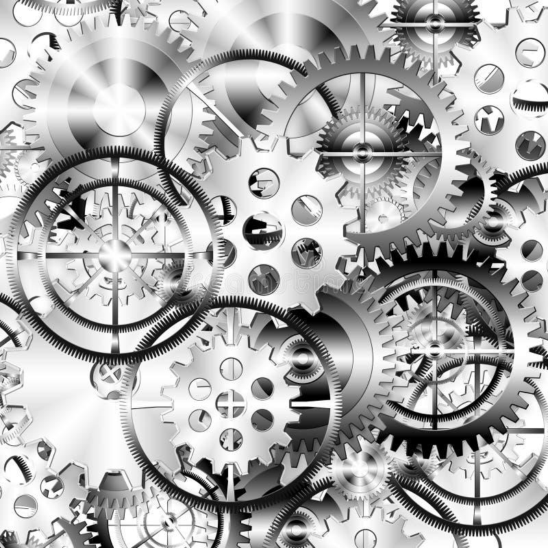 Jogo das rodas de engrenagens ilustração stock