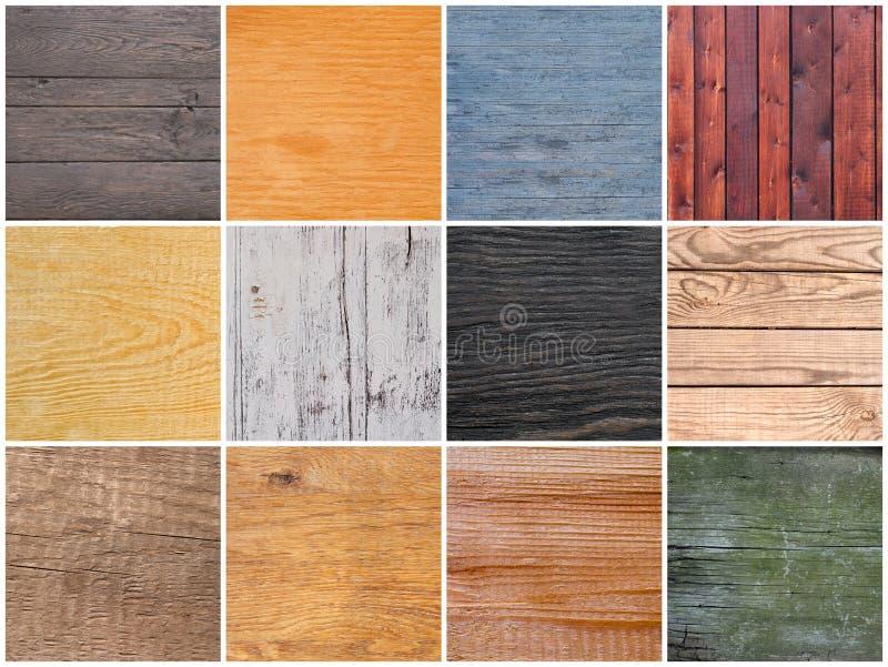 Jogo das texturas da madeira fotografia de stock royalty free