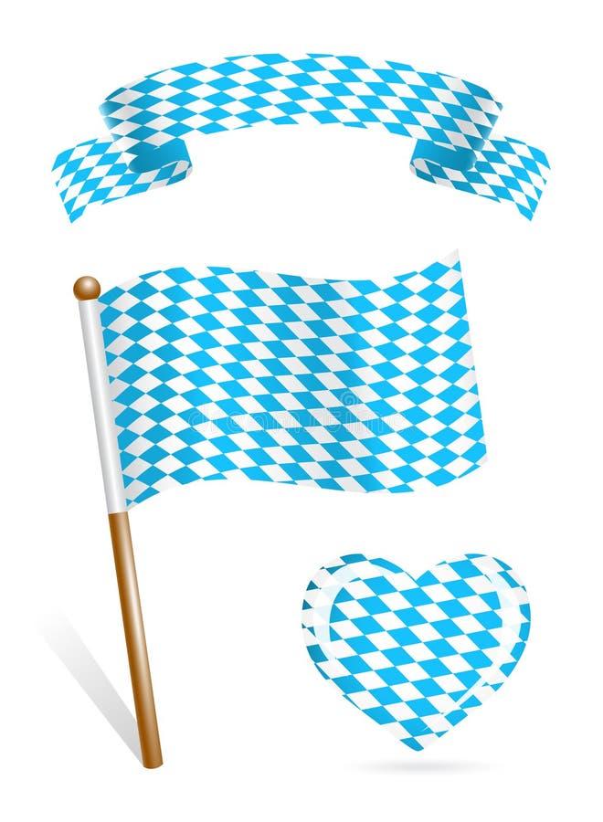 Jogo de ícones da bandeira de Baviera ilustração do vetor