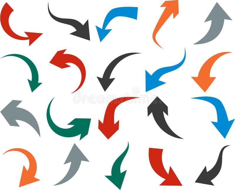 Jogo de ícones da seta ilustração stock