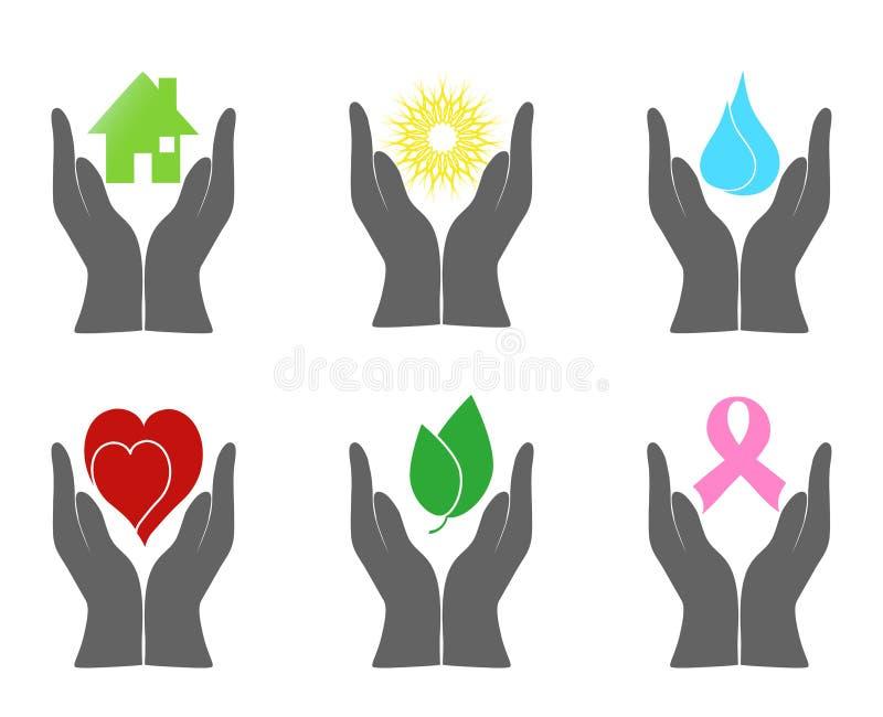 Jogo de ícones do ambiente ilustração do vetor