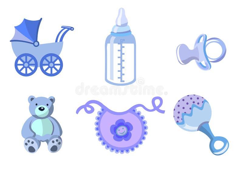 Jogo de ícones do bebê ilustração stock