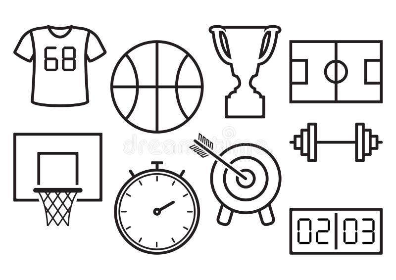 Jogo de ícones do esporte Ilustração do vetor ilustração royalty free