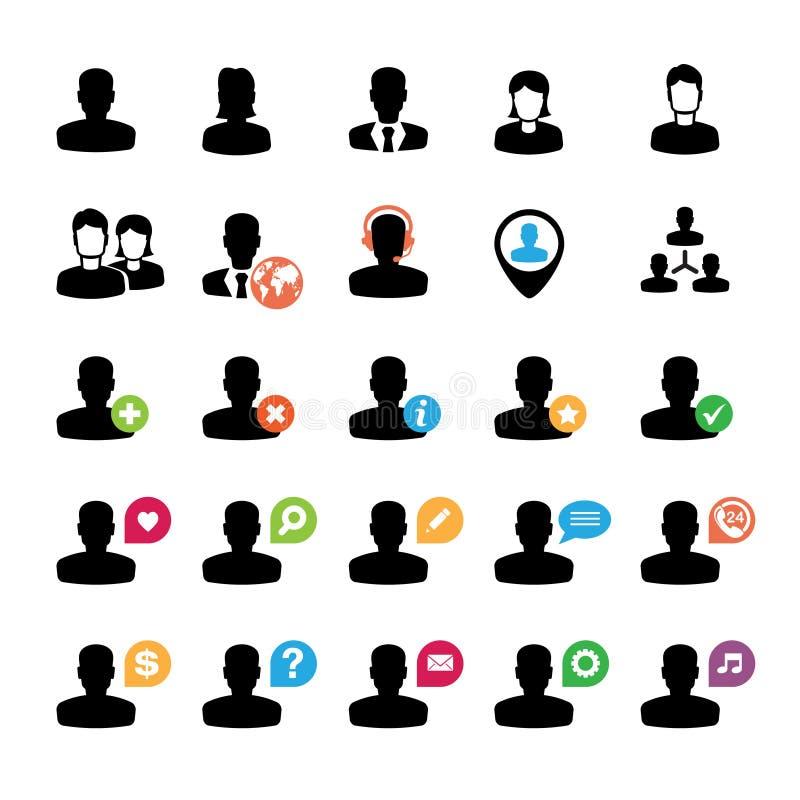 Jogo De ícones Do Usuário Foto de Stock