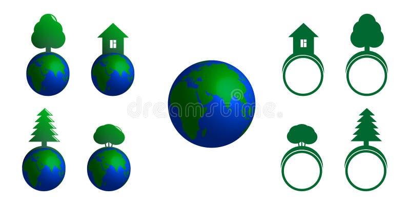 Jogo de ícones do vetor ilustração royalty free