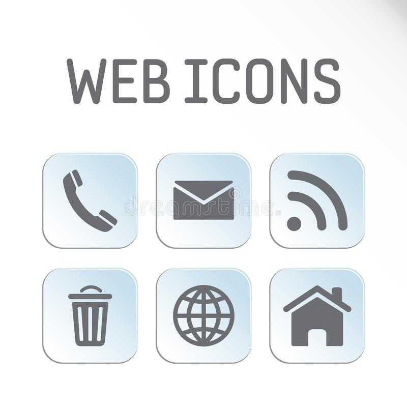 Jogo de ícones do Web imagens de stock