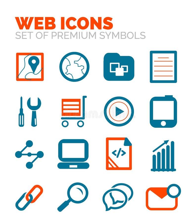 Jogo de ícones do Web ilustração royalty free