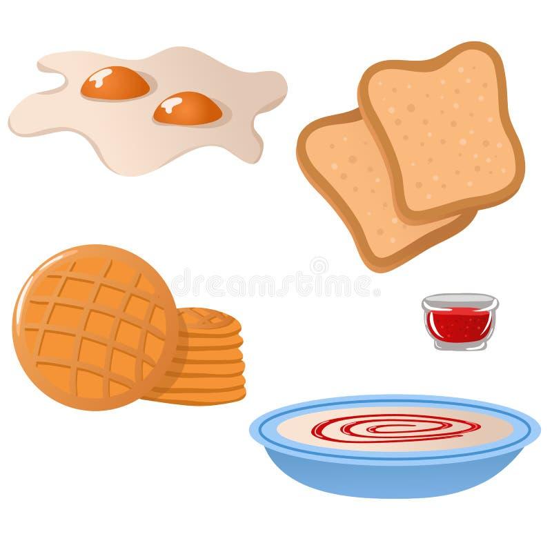Jogo de ícones dos breakfas ilustração stock