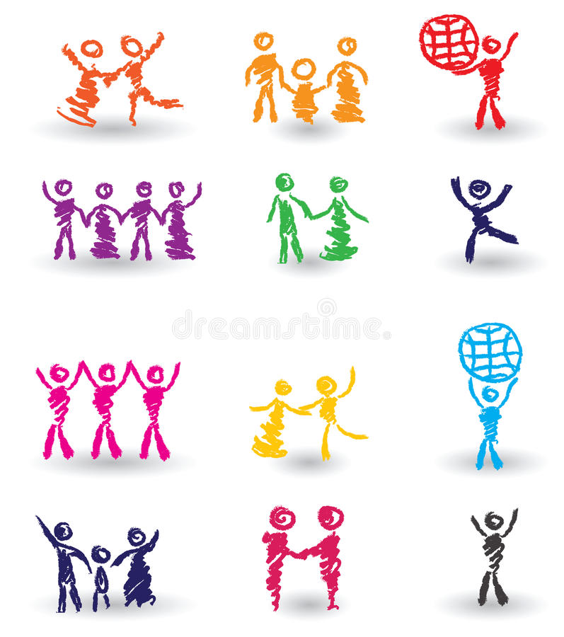 Jogo de ícones dos povos