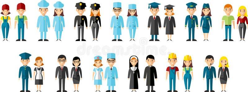 Jogo de ícones dos povos ilustração stock