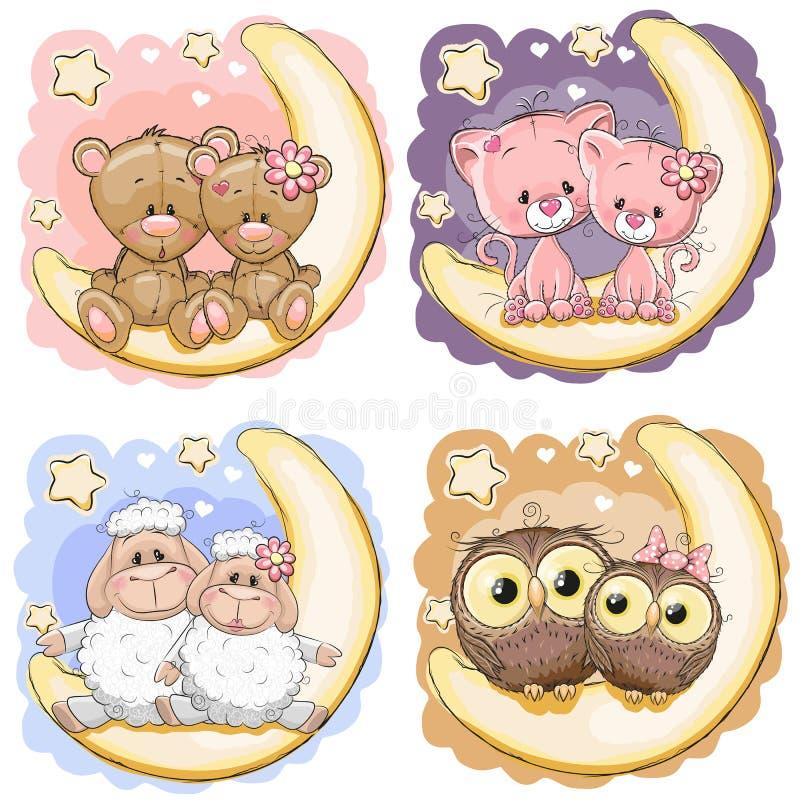 Jogo de animais bonitos ilustração stock