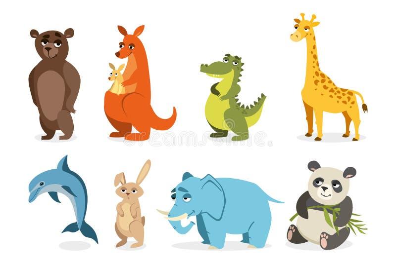 Jogo de animais bonitos ilustração do vetor