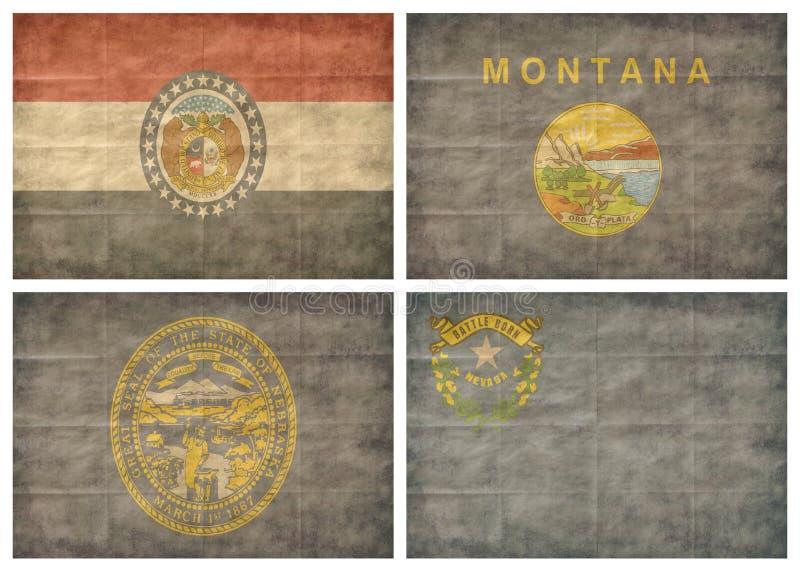 Jogo de bandeiras do estado de E.U. ilustração stock
