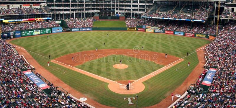 Jogo de basebol das Texas Rangers imagem de stock royalty free