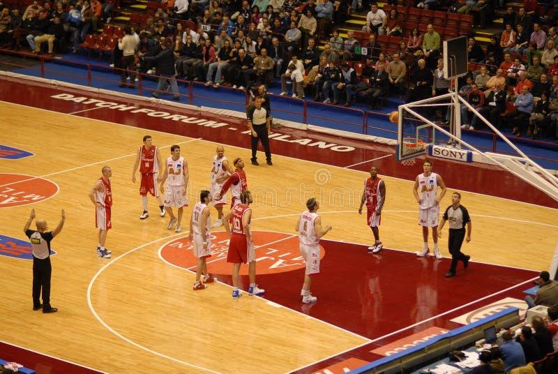 Jogo de basquetebol fotos de stock