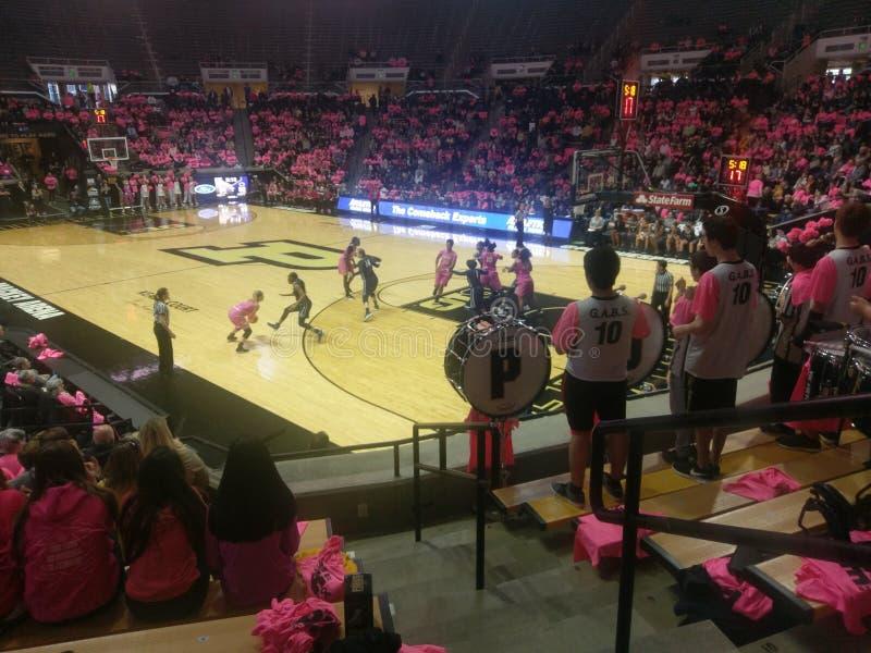 Jogo de basquetebol do ` s das mulheres de Purdue com Penn State o 28 de janeiro de 2018 foto de stock