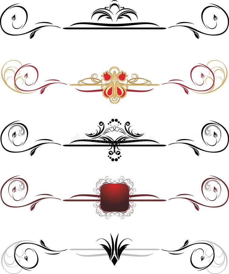 Jogo de beiras decorativas ilustração royalty free