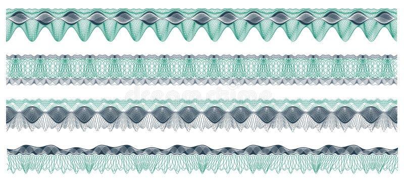 Download Jogo De Beiras Do Guilloche Ilustração do Vetor - Ilustração de projeto, arte: 16864403